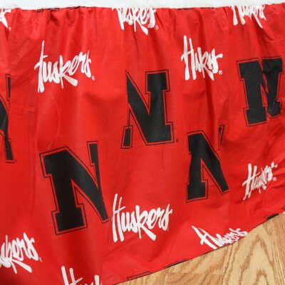 NCAA Nebraska Dust Ruffle Size: Queen