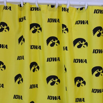 NCAA Iowa Cotton Printed Shower Curtain