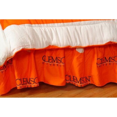 NCAA Clemson Dust Ruffle Size: King