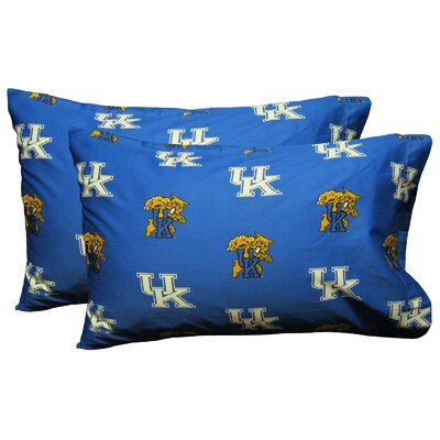 Collegiate NCAA Kentucky Wildcats Pillowcase Size: King