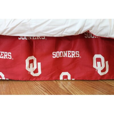NCAA Oklahoma Dust Ruffle Size: Queen