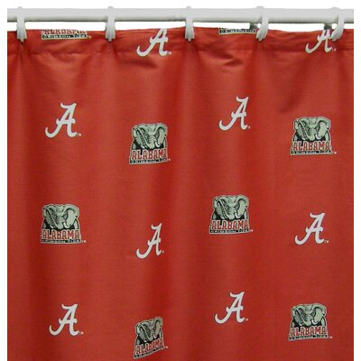 NCAA Alabama Cotton Printed Shower Curtain