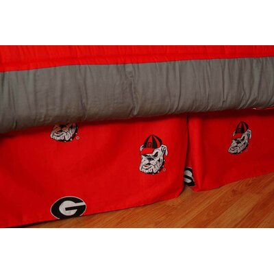 NCAA Georgia Dust Ruffle Size: Queen
