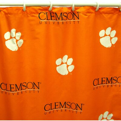 NCAA Clemson Cotton Printed Shower Curtain
