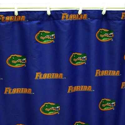 NCAA Florida Gators Cotton Printed Shower Curtain