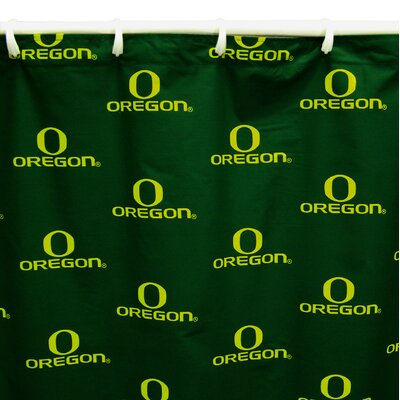 NCAA Oregon Cotton Shower Curtain