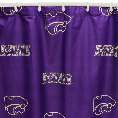 NCAA Kansas State Cotton Printed Shower Curtain