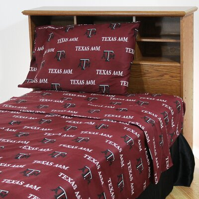 NCAA Texas A&M Sheet Set Size: Twin