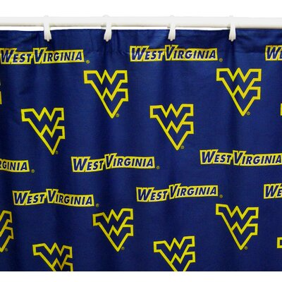 NCAA West Virginia Cotton Shower Curtain