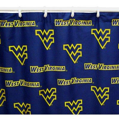 NCAA West Virginia Cotton Shower Curtain