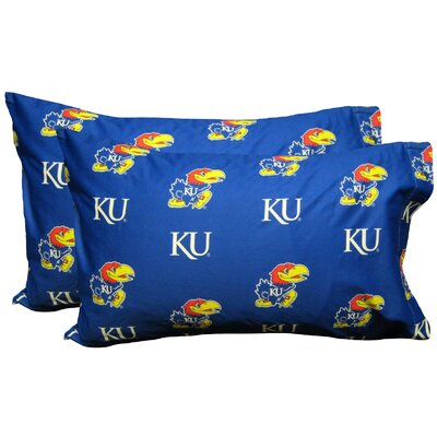 NCAA Kansas Jayhawks Pillowcase Size: Standard