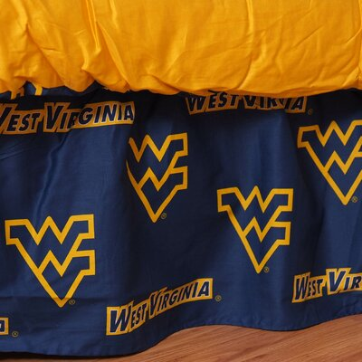NCAA West Virginia Dust Ruffle Size: Twin