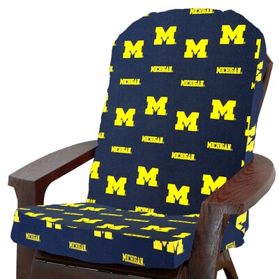 NCAA Michigan Outdoor Adirondack Chair Cushion