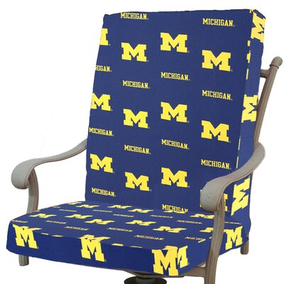 NCAA Michigan Outdoor Dining Chair Cushion