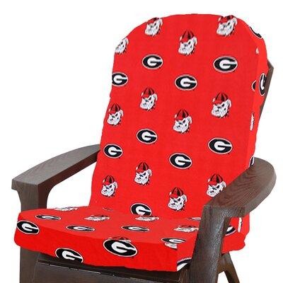 NCAA Georgia Outdoor Adirondack Chair Cushion