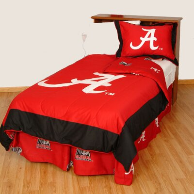 NCAA Alabama Reversible Comforter Set Size: Queen