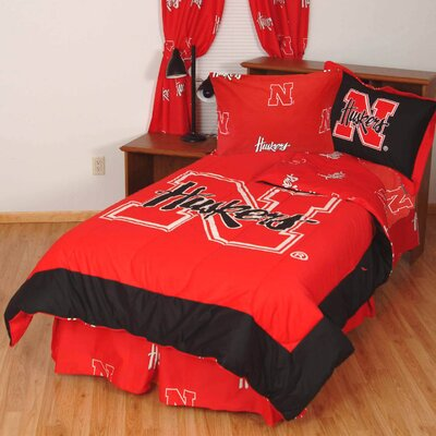 NCAA Nebraska Reversible Bed in a Bag Set Size: Twin