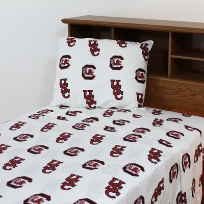 NCAA South Carolina Printed Sheet Set Size: Twin