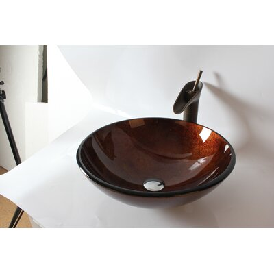 Glass Round Vessel Bathroom Sink