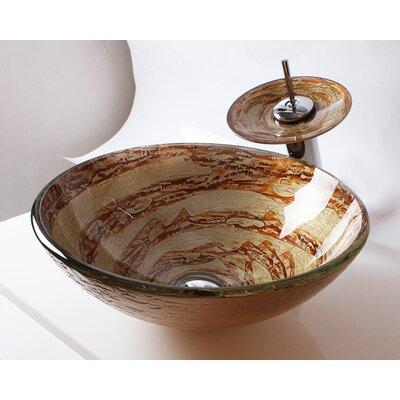Glass Round Vessel Bathroom Sink