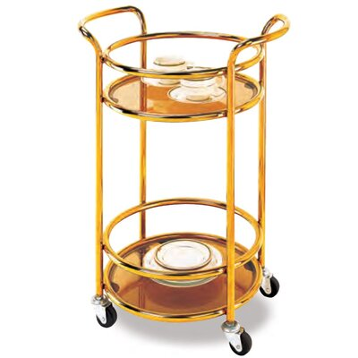 Durable Mobile Kitchen Cart Finish: Golden Brass