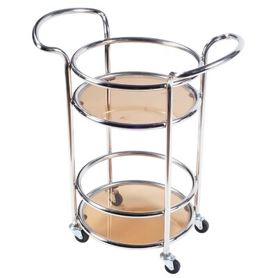 Durable Mobile Kitchen Cart Finish: Silver Stainless Steel