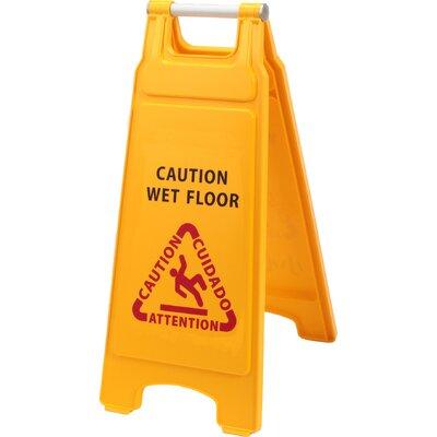 Plastic Double Side Wet Floor Caution Sign