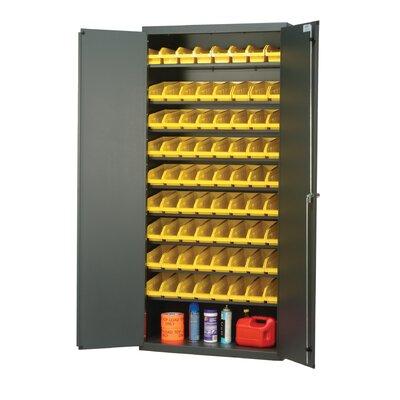 """Quantum Pick Rack 78"""" H x 36"""" W x 18"""" D Storage Cabinet - Color: Yellow"""