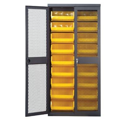 """Quantum Mesh Safe-View 78"""" H x 36"""" W x 18"""" D Storage Cabinet - Color: Yellow"""