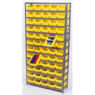 "Quantum Economy Shelf Storage Units (75"" Hx36"" Wx18"" D) w/ Bins -Bin Color:Blue, Bin Dimensions:4"" Hx4 1/8"" Wx17 7/8"" D (qty. 96) at Sears.com"