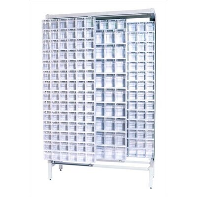 Free Standing Slider Storage System with 5 and 6 Compartment Tip Out Bins Color: White QS-305306-52-White
