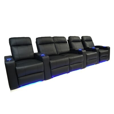 Contemporary LED Manual Home Theatre Row Seating With Arms (Row of 5) OREL3691 40157167