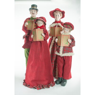 4 Piece Fabric Traditional Caroler Set THDA5089 42741787