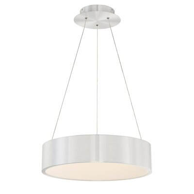 Corso 1-Light LED Drum Pendant