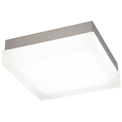 Venuti Flush Mount Finish: Brushed Nickel, Bulb Color Temperature: 2700K, Size: 2 H x 6 W x 6 D