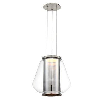 Dynamo 1-Light LED Mini Pendant Finish: Brushed Nickel/Chrome