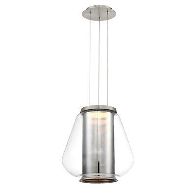 Dynamo 1-Light LED Mini Pendant Finish: Brushed Nickel/Chrome