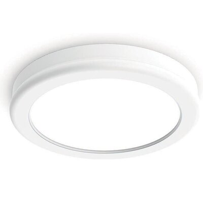 Geos 1 Light Flush Mount Finish: White