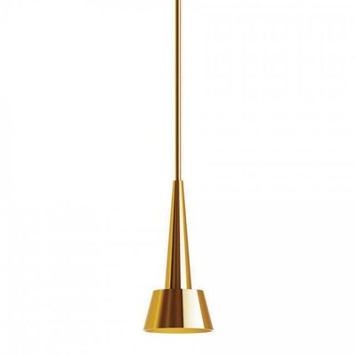 Rocket 1-Light Mini Pendant Finish: Brushed Brass