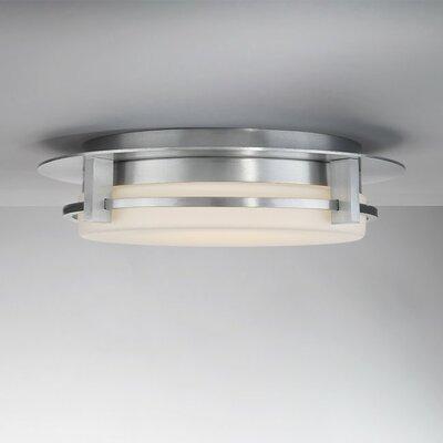 Lippert 1-Light LED Flush Mount Finish: Brushed Aluminum