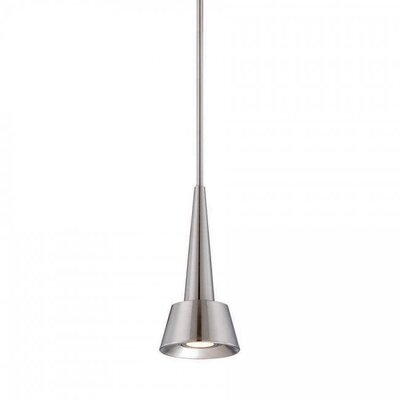 Rocket 1-Light Mini Pendant Finish: Brushed Nickel