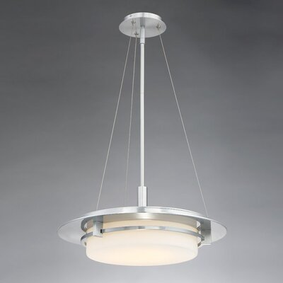 Lippert 1-Light Drum Pendant Finish: Brushed Aluminum