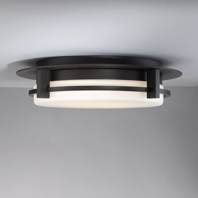 Lippert 1-Light LED Flush Mount Finish: Bronze