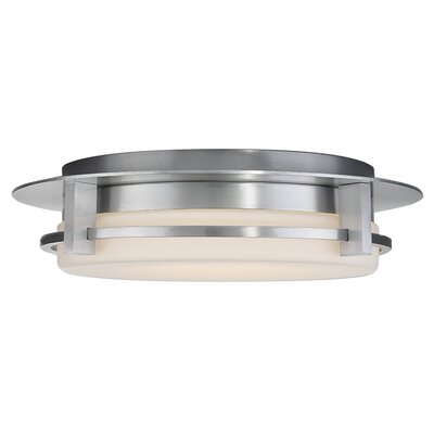Compass 1-Light LED Flush Mount Finish: Brushed Aluminum