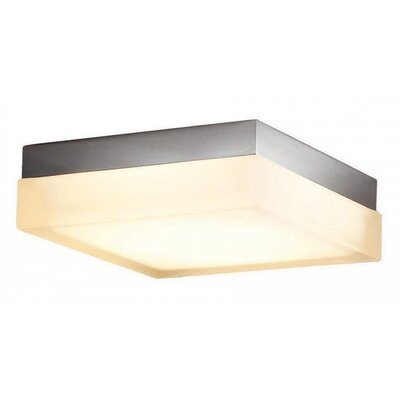 Dice Square 1 Light Flush Mount Finish: Brushed Nickel