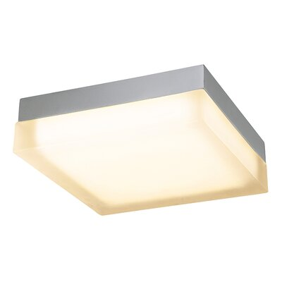 Dice Square 1 Light Flush Mount Finish: Chrome