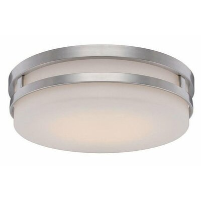Vie 1 Light Flush Mount Finish: Brushed Nickel