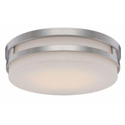 Vie 1-Light LED Flush Mount Finish: Brushed Nickel