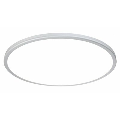 Geos 1 Light Flush Mount Finish: Titanium, Size: 0.88 H x 15 W x 15 D