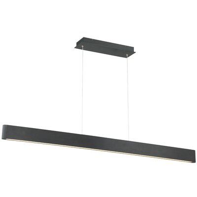 Volo 1-Light LED Kitchen Island Pendant Finish: Black
